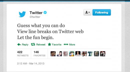twitter-linebreak