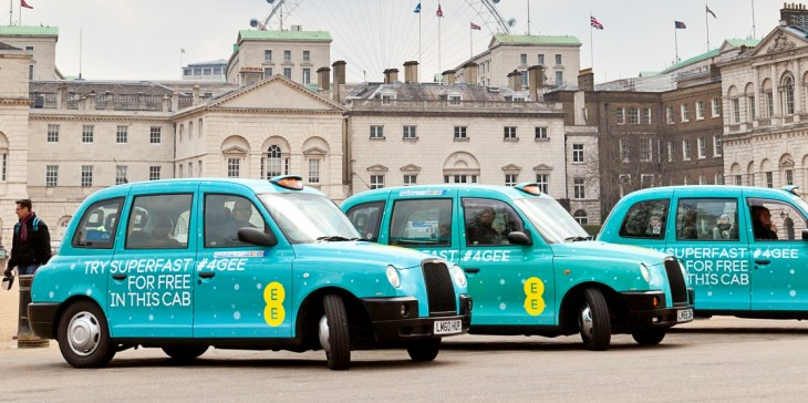 EE brings 4G to London and Birmingham taxis as part of 3-month UK trial