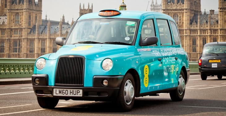 4GEE Taxis Westminster Bridge 4 730x377 EE brings 4G to London and Birmingham taxis as part of 3 month UK trial
