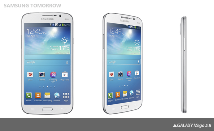 "Samsung announces Galaxy Mega 6.3"" and 5.8"" Android Smartphone"