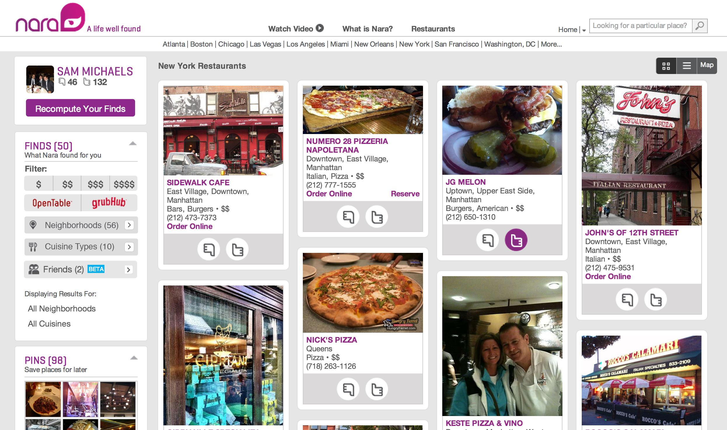 restaurants feedback