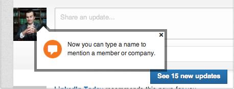 LinkedIn tooltip
