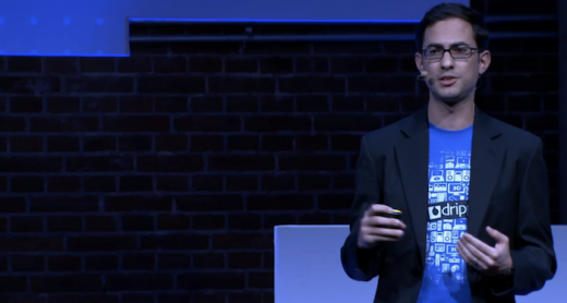 Drippler CEO speaking on stage at TNW Conference Europe