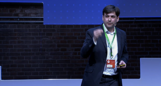 Kompany CEO speaking on stage at TNW Conference Europe 2013