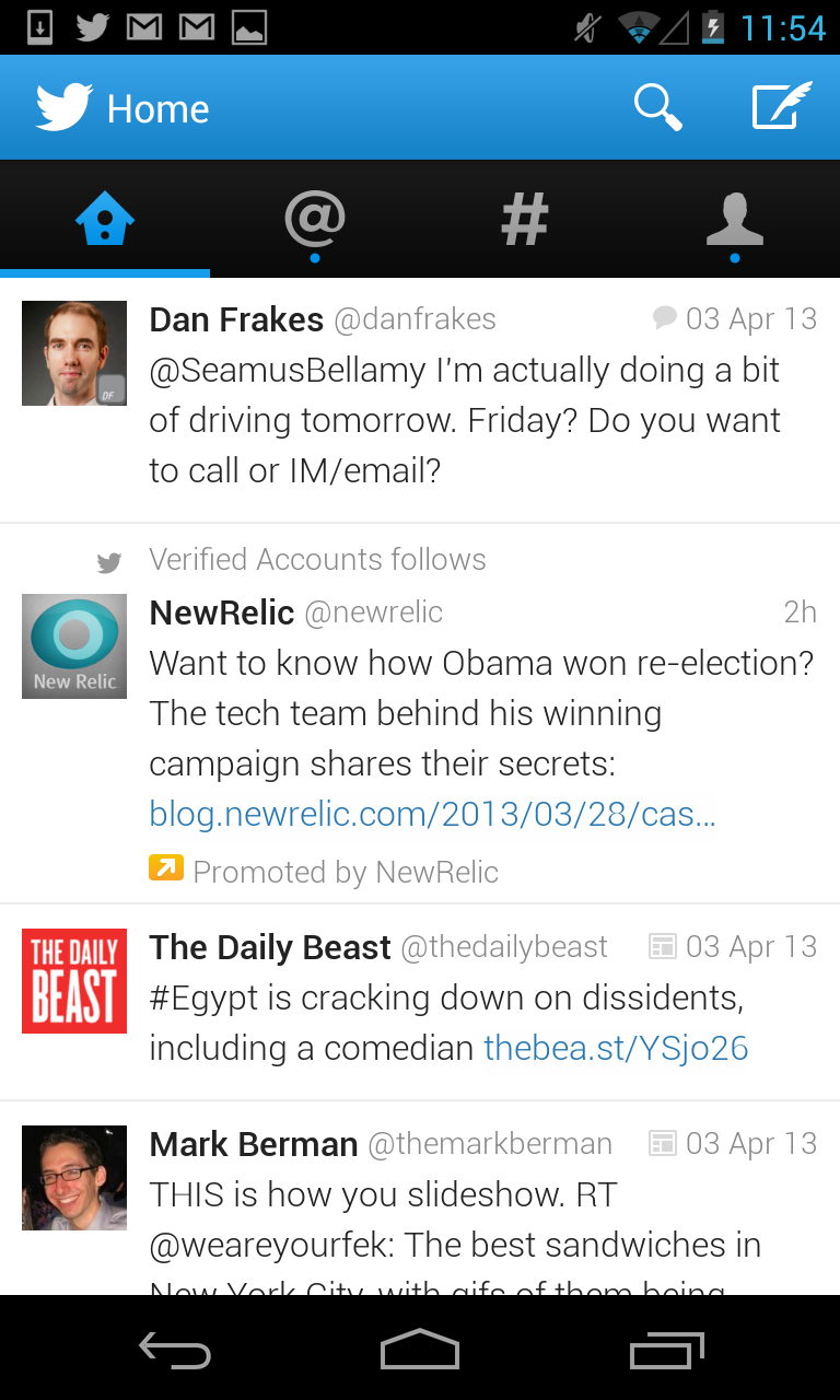 Twitter for Android gets big update