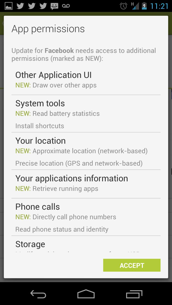 facebook app installer android