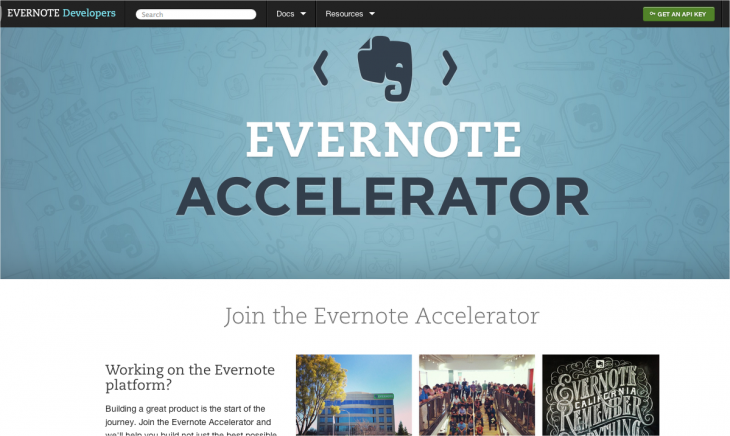 Snap 2013 04 16 at 03.51.53 730x436 Evernote launches a new accelerator to develop its app ecosystem, taking no equity from startups