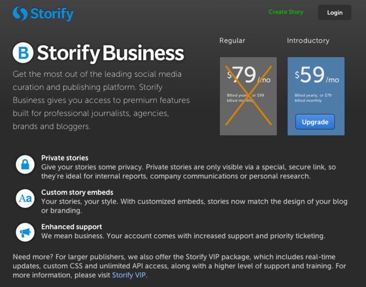 Storify Business screenshot