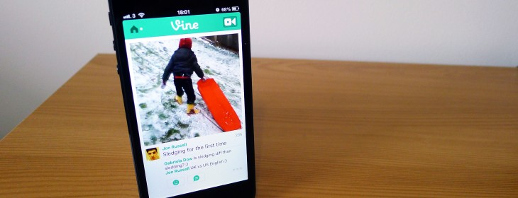 Twitter updates Vine for iOS so you can shoot with the front-facing camera and mention users in posts ...