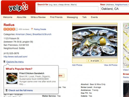 yelp ambience categories