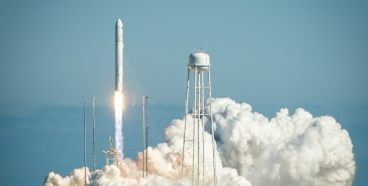 Orbital Sciences' Antares rocket blasts off on its maiden voyage
