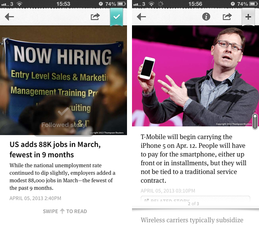 circa2 Circa updates its iOS app with a faster interface and greater focus on following news stories