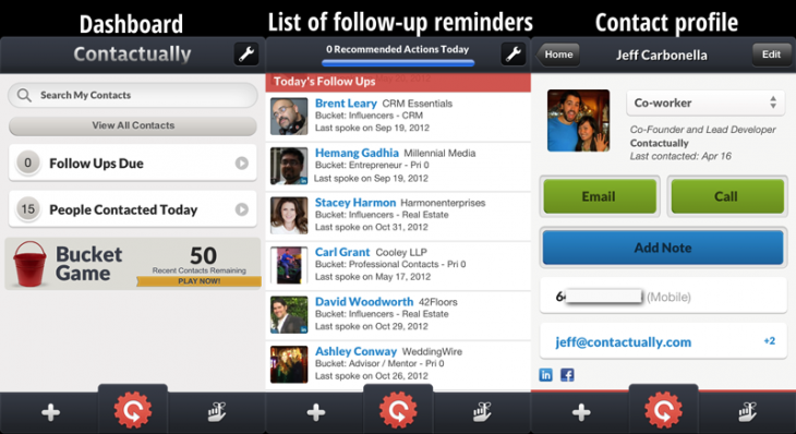 iphone app 730x398 Contactually unveils its iOS app, launches next gen social CRM with better networking, sharing, more