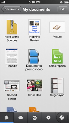 iphone5 Documents appstore 1 220x393 One million users on, Readdle takes its Documents file management app to iPhone