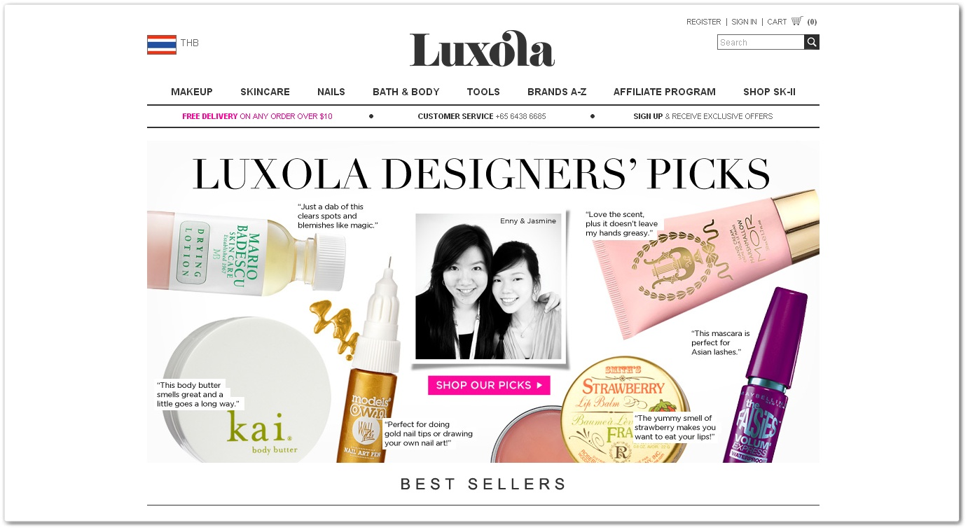Luxola's site is available in seven countries: Brunei Darussalam ...