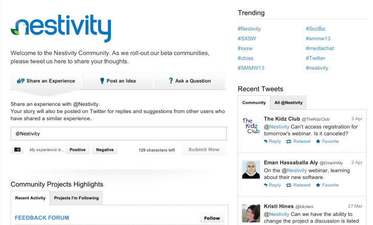 nestivity 730x442 Nestivitys Twitter based community engagement service launches to change social customer service
