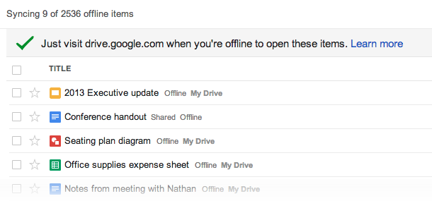 Sync All Google Drive Files For Offline Access