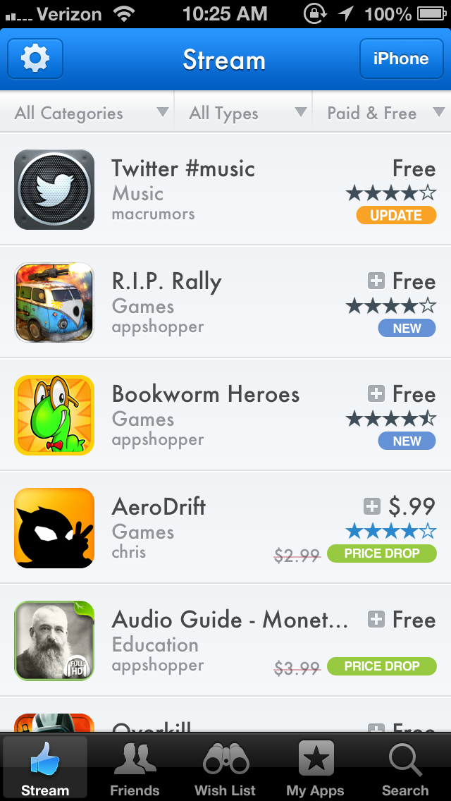 photo 5 Despite App Store rules crackdown, comparison tool AppShopper returns with a social bent