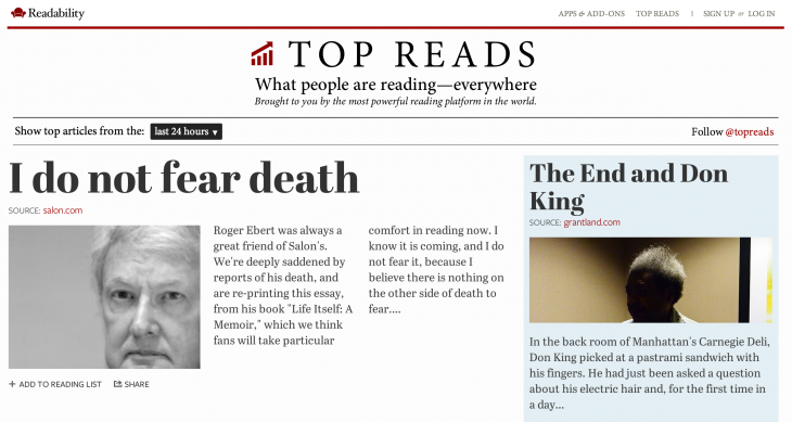 topreads 730x389 Readability kicks off new Topreads service to highlight popular content, challenging other aggregating services