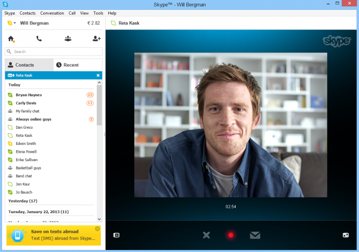 vima1 730x513 Microsoft launches preview of Skype Video Messaging for Windows, says feature coming to Windows 8 app soon