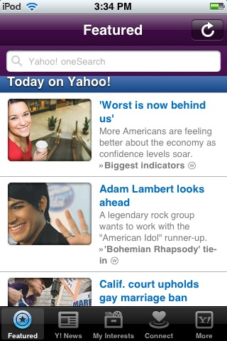 yahoo iphone Yahoo re launches iOS app with deep integration of Summly acquisition, redesigned article pages