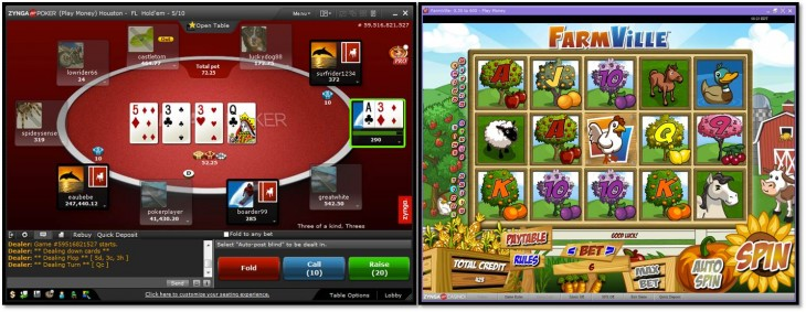 zyngapluspoker zyngapluscasino gameplay 730x283 Zynga launching real money poker and casino games in the UK on April 3, Facebook and mobile versions in 2013