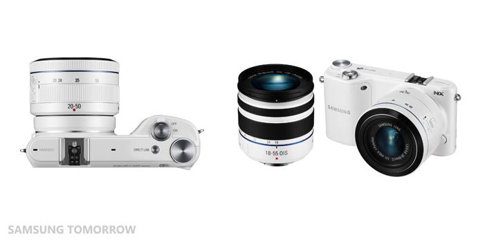 0410 Samsung unveils the NX2000, a 20.3MP compact system camera that connects with Android and iOS devices