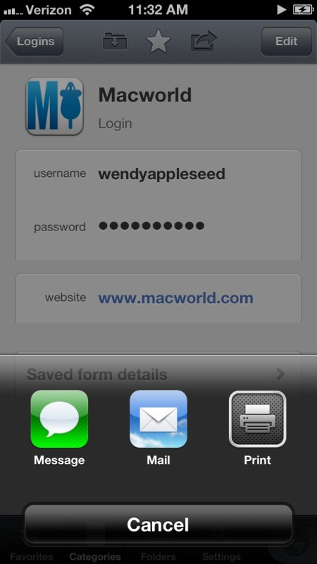 1P4 iOS 4 2 Macworld sharing 450x800 1Password for iOS gets password generation inside 1Browser on iPad, improved searching and sharing