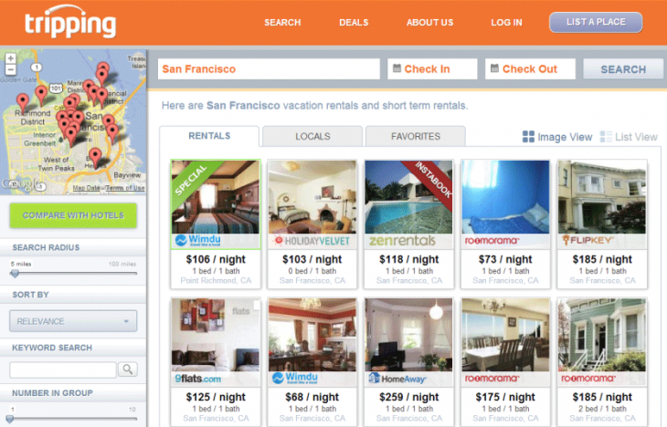 5.Tripping Instabook SearchResultsPage 730x468 Tripping introduces instantly approved bookings for private vacation rentals