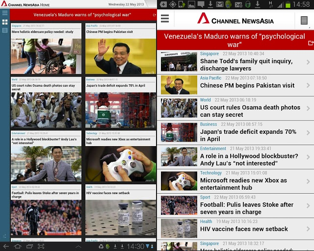 Singapore's Channel NewsAsia Overhauls Android App