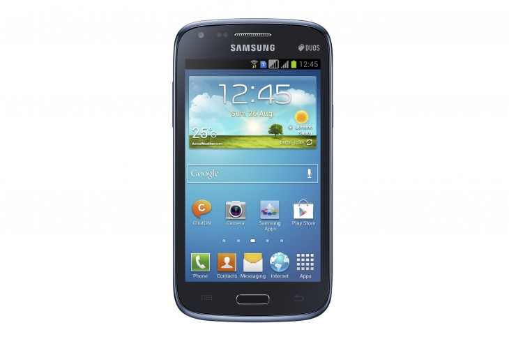 "GALAXY Core Product Image 1 730x486 Samsung unveils the Galaxy Core, a low end Android smartphone with 4.3"" display and dual SIM support"