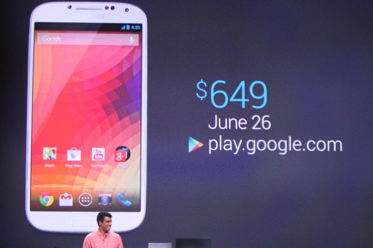 IMG 0410 730x486 Google reveals unlocked Samsung Galaxy S4 running stock Android, coming to Google Play for $649 on June 26