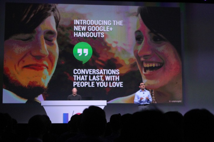 IMG 0604 730x486 Google launches Hangouts, a new unified, cross platform messaging service for iOS, Android and Chrome