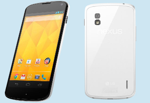 LG NEXUS4 WHITE LG announces white Nexus 4, will launch internationally starting May 29