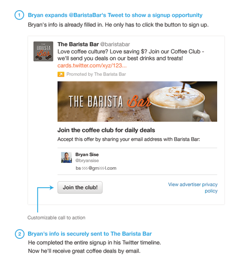 Twitter Launches Lead Generation Twitter Cards