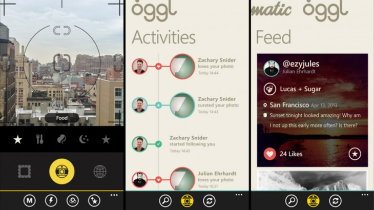 OggleWP 730x410 Nokia announces Hipstamatics new social networking photo app, Oggl, is landing on Windows Phone 8