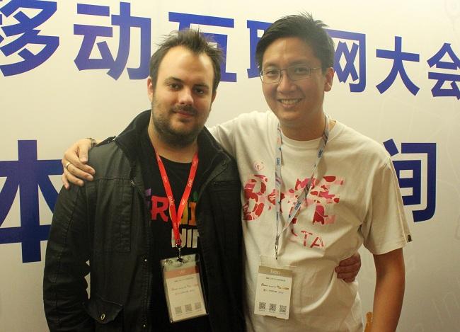 Halfbrick CMO Phil Larsen and iDreamsky co-founder Jeff Lyndon.