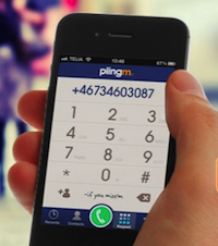 Plingm Free international phone calls Stockholms Plingm is a new startup vying for the mobile messaging / VoIP crown