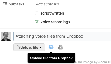 Producteev - dropbox v2