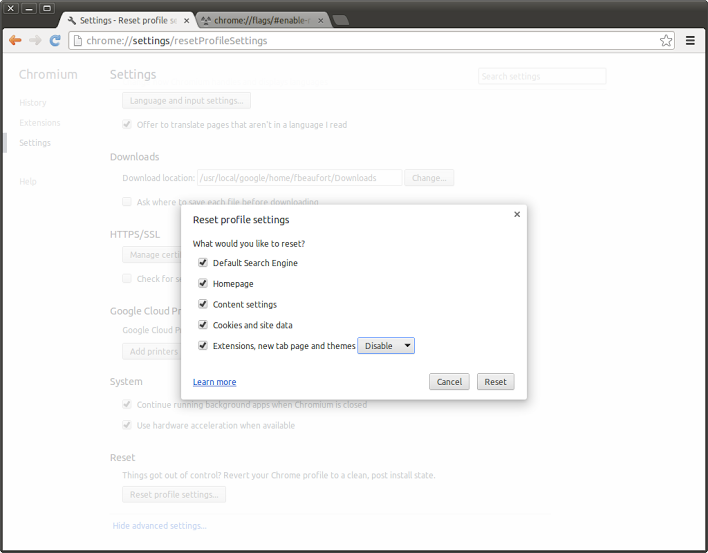 how to change chromium search engine