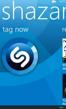 Shazam Home 220x365 Shazam officially hits Windows Phone 8 with homescreen tagging and Xbox and Nokia Music integration