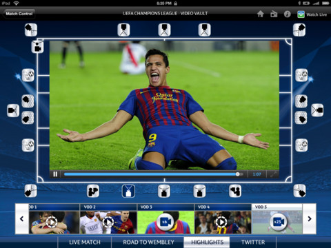 SkySports BSkyB's Champions League highlights let UK fans choose from 20 camera angles via Sky Sports for iPad app