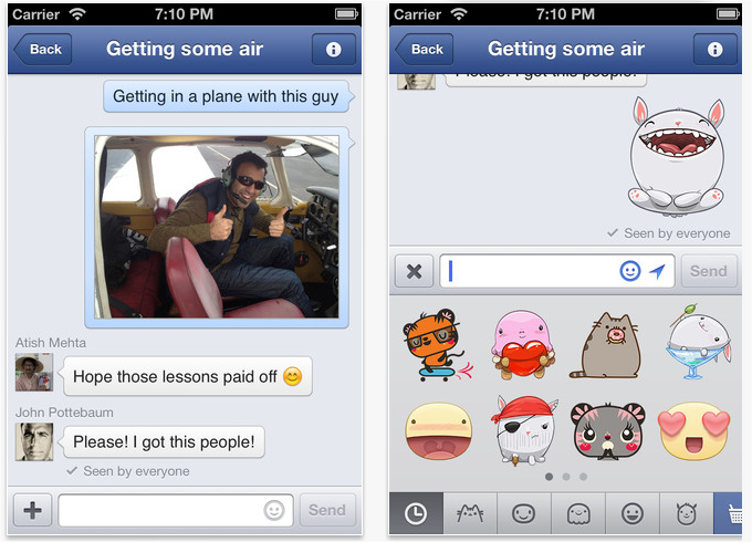 Facebook messenger gets updated now with stickers snap 2013 05 06 at 161547 ccuart Choice Image
