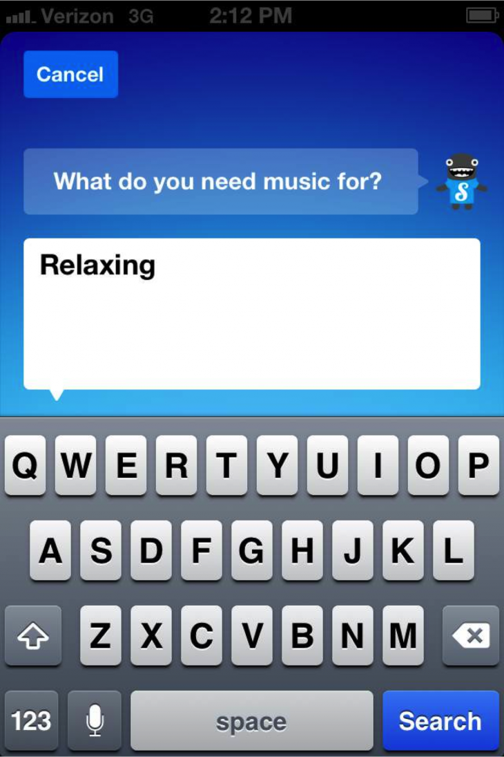 Songza1 730x1095 Songza adds updated features to its iOS music streaming app, as it passes 6 million downloads
