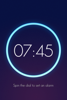a13 220x330 Wake is a beautiful iOS alarm clock app that lets you slap, flip, shake and swipe yourself out of bed