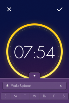 b13 220x330 Wake is a beautiful iOS alarm clock app that lets you slap, flip, shake and swipe yourself out of bed