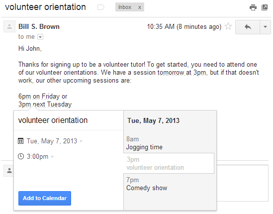 Create Google Calendar Event From Gmail