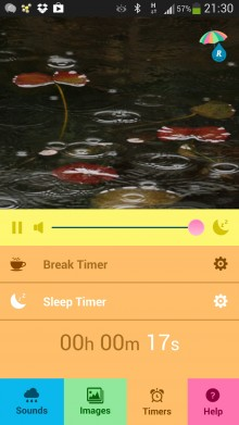Listen to the infinite sound of rain with Raining.fm for iOS and Android