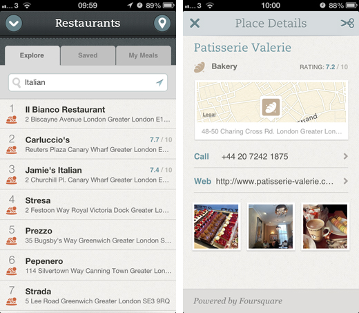 evernote Evernote Food brings Foursquare venue ratings to the fore, adds auto lock feature and new recipe partners