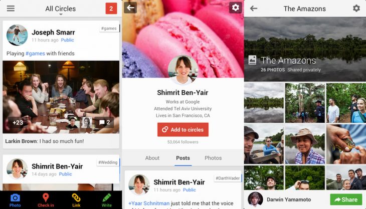 google plus ios 730x417 Google+ for iOS updated with Auto Enhance for photos, related hashtags, interactive Google Offers, and more